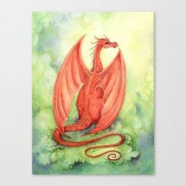 Vermillion Dragon Canvas Print