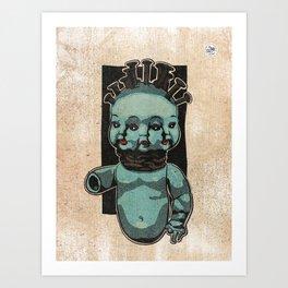 Triple face Art Print