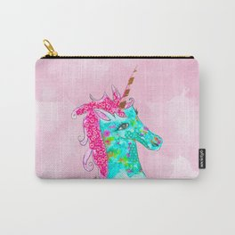 Unicorn on Pink watercolour Carry-All Pouch