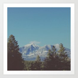 San Francisco Peaks Art Print
