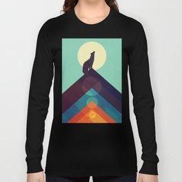 Howling Wild Wolf Long Sleeve T-shirt