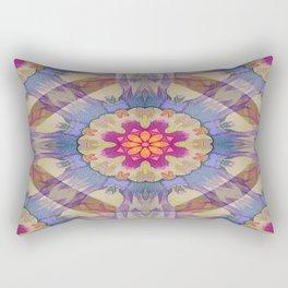 Sunset Kaleidoscope Rectangular Pillow