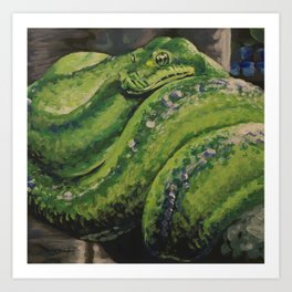 Emerald Tree Boa #2 Art Print