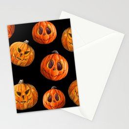Jack and Jack Halloween pattern in watercolor  Stationery Cards