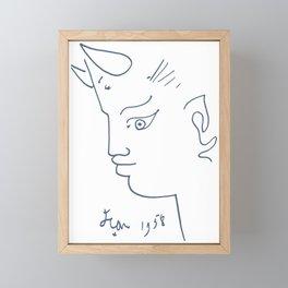 Jean Cocteau Tete de Faune (Head of Fauna), Artwork, Posters, Prints, Tshirts, Men, Women, Kids Framed Mini Art Print