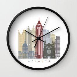 Atlanta skyline poster Wall Clock