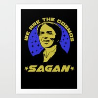 carl sagan Art Prints featuring Carl Sagan we are the cosmos by Buby87