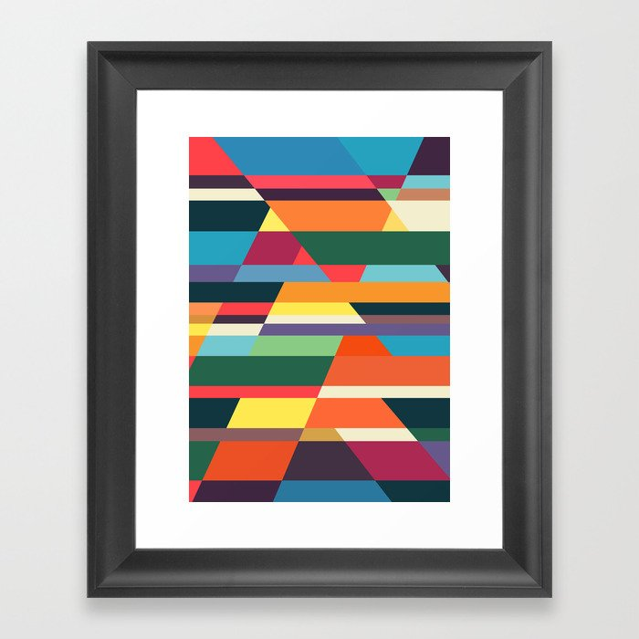 The hills run to infinity Framed Art Print