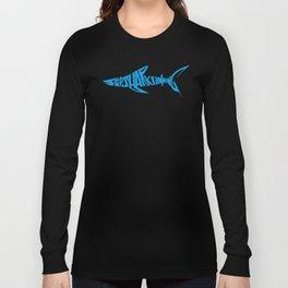 Stop Shark Finning (blue) Long Sleeve T-shirt
