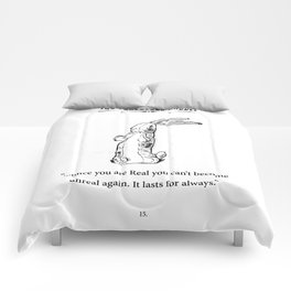 The Velveteen Rabbit Once you are Real Comforters