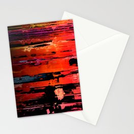 Red Rocks Abstract 1 Stationery Cards