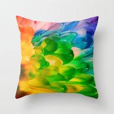 Rainbow Flower #1 Throw Pillow