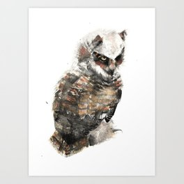 Owl just keep my eye on you. Art Print