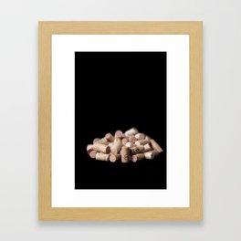 Various wine corks Framed Art Print