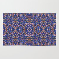 mosaic Area & Throw Rugs featuring Mosaic by PureVintageLove
