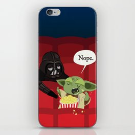 May I have some popcorn? Nope. iPhone Skin
