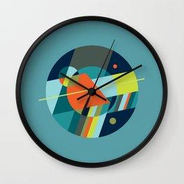 Binaries on Blue Wall Clock