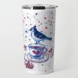 Winter Tea (Ble Jay) Travel Mug