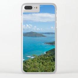 Caribbean Paradise Clear iPhone Case