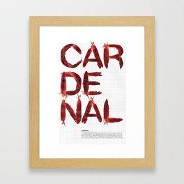 Cardenal XIV Framed Art Print