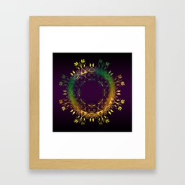 Fantasy Circle (Purple) Framed Art Print