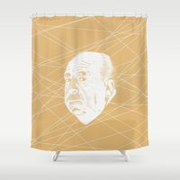 hitchcock Shower Curtains featuring Hitchcock Web by FSDisseny