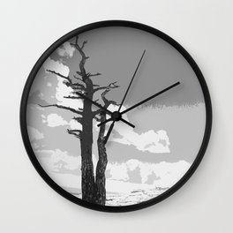 """Alone on Sandia"" Wall Clock"