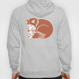 Sleeping Copper Brown Husky Hoody