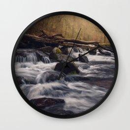 Fingle Cascades Wall Clock