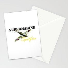 Supermarine spitfire ww2 planes Stationery Cards