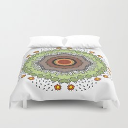Circle city ornament Duvet Cover