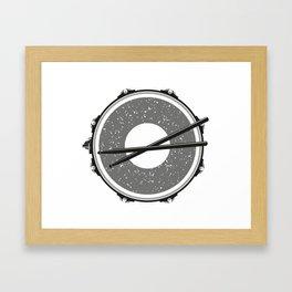 Drum with drumsticks Framed Art Print