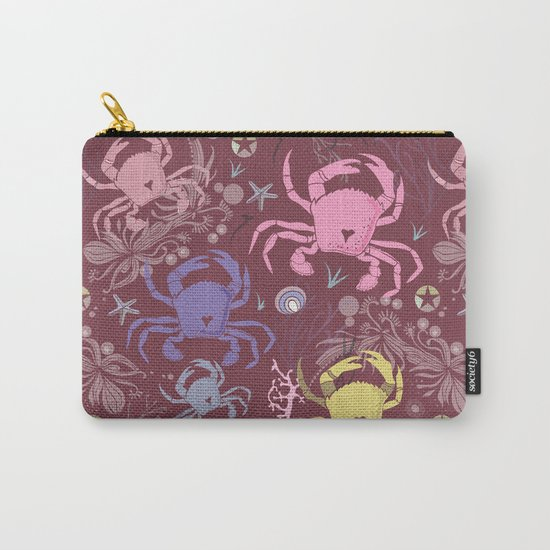 Crab pattern Carry-All Pouch