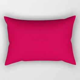 Curves in Yellow & Royal Blue ~ Tomato Red Rectangular Pillow