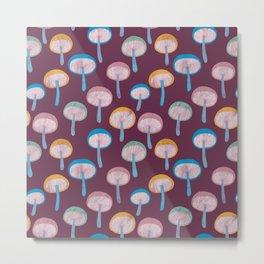 Pattern Project #41 / Mushrooms Metal Print