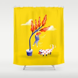The New Dog Shower Curtain