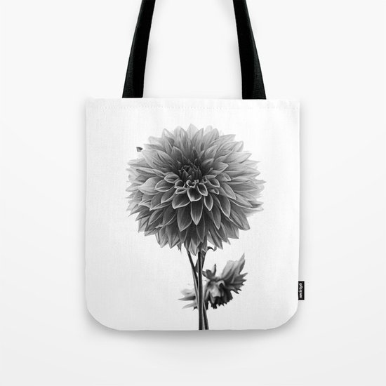 Dahlia - Monochrome Tote Bag