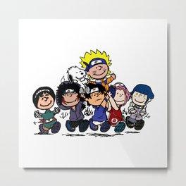 Naruto Peanuts Metal Print