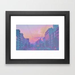 Anime sunset Framed Art Print