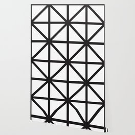 White and Black 80s style Print Wallpaper