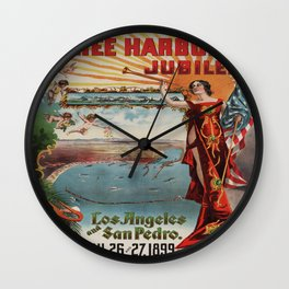 Vintage poster - Free Harbor Jubilee Wall Clock