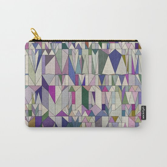 Architecture in Pink Carry-All Pouch