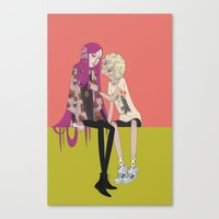 halo Canvas Prints featuring halo by ♡ SUSHICORE ♡