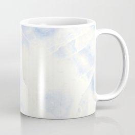 Blue and White Marble Waves Coffee Mug