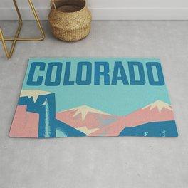 Cool Colorado Retro Vintage Travel Poster Rug