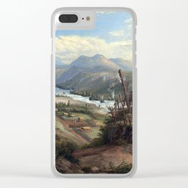 Charles Blomfield Orakei Korako on the Waikato Clear iPhone Case