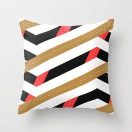 Crunchy Lines, No. 12 Throw Pillow