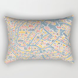 Amsterdam City Map Poster Rectangular Pillow