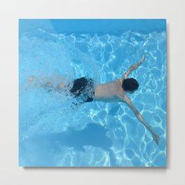 Pool - Beach - Ocean - Blue Water - Summer - Swimming Metal Print