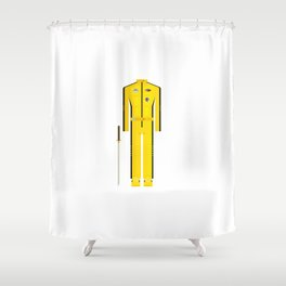 American Martial Arts Assassin Film Costume Minimal Sticker Shower Curtain